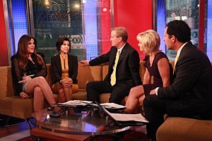 Paul Sorvino, Mira Sorvino, Christina Hendricks, Kourtney Kardashian & Khloe Kardashian Visit FOX & Friends