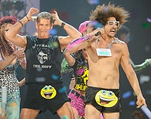 David Hasselhoff with LMFAO
