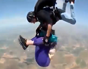 Skydiving Grandma