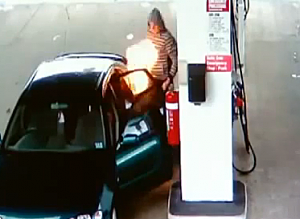 Fire in gas tank