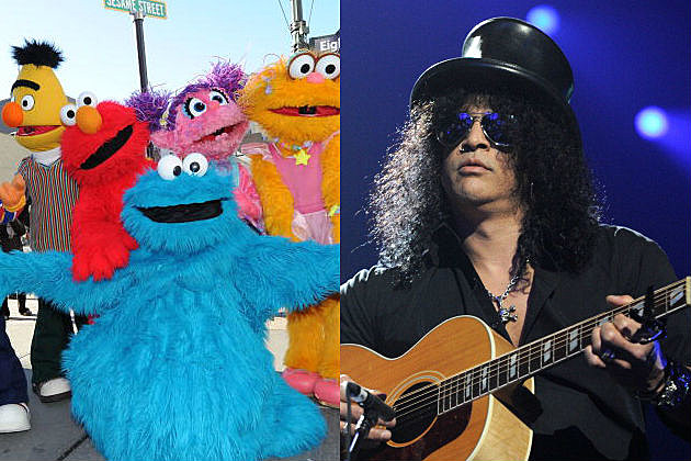 Sesame Street and Slash