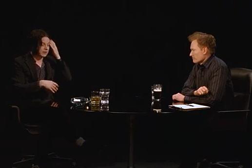 Jack White and Conan O'Brien