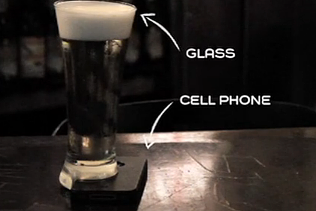 offline beer glass forces you to put down phone and talk