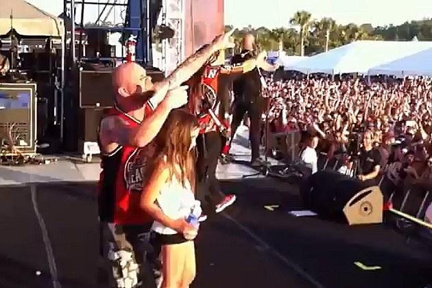 Little Girl At Five Finger Death Punch Concert
