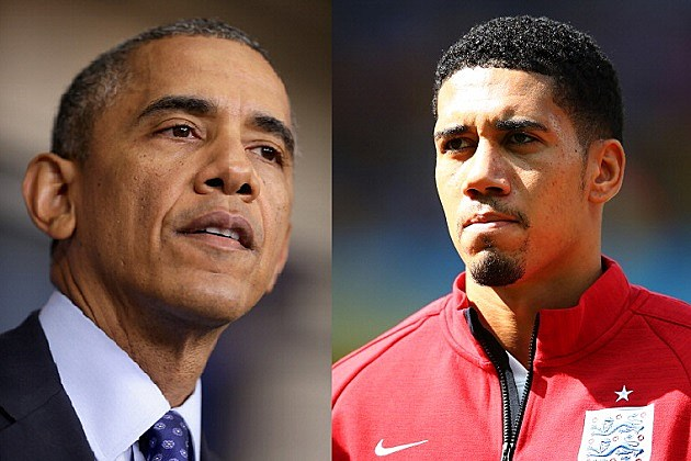 President Obama and Chris Smalling