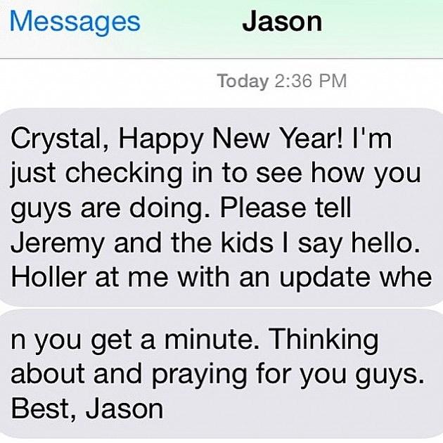 Jason Garrett text message