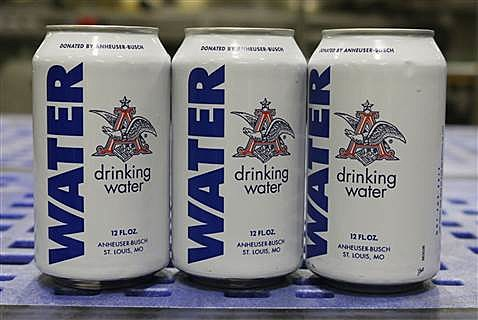 canned water
