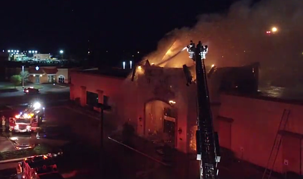 Awesome Aerial Video Shows Wichita Falls Firefighters Battling Ashley Furniture Blaze