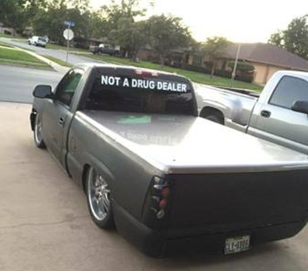 The Infamous 'Not a Drug Dealer' Truck in Wichita Falls is