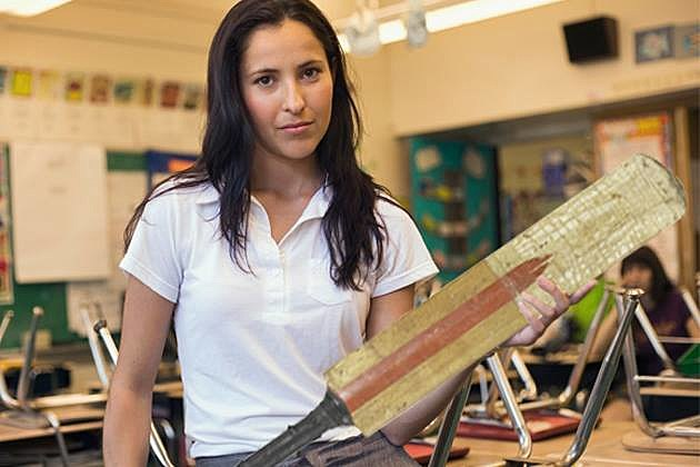 School corporal punishment paddling 3 girls - 2 part 3