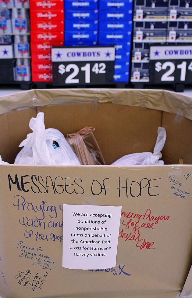 Wichita Falls Walmart Mesages of Hope donation bin